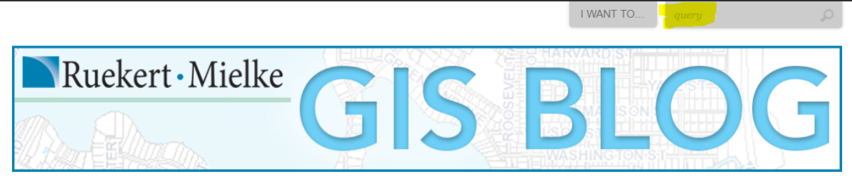 Searching the GIS Blog